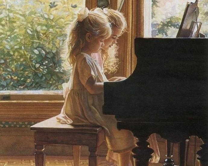 девочки за роялем